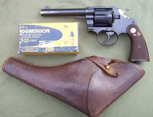 WWI Colt 'New Service' in British Use