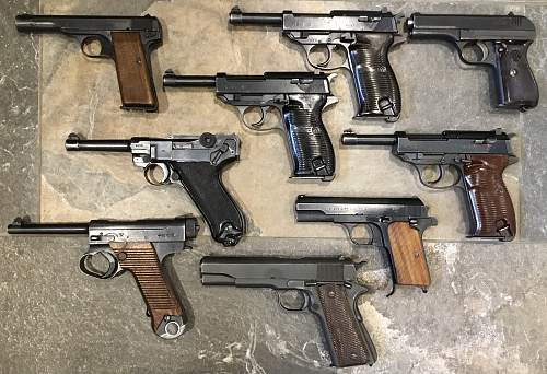 WW 2 Pistol collection