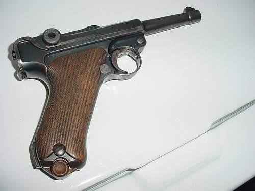 Luger pick up,between wars.