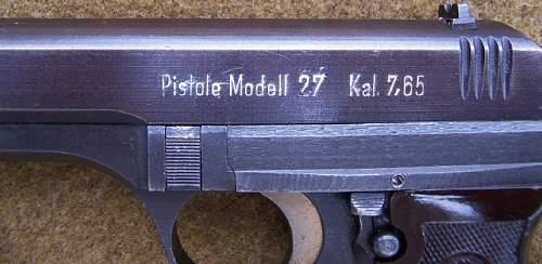 German/ Czech P-27 Pistol