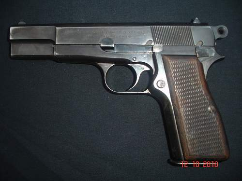 German Marked Browning Pistol and Holster