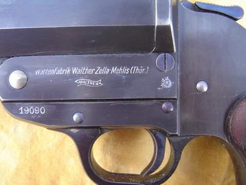 Early III Reich Prussian police flare pistol