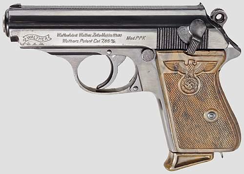 German Railroad Police Sauer M13 pistol