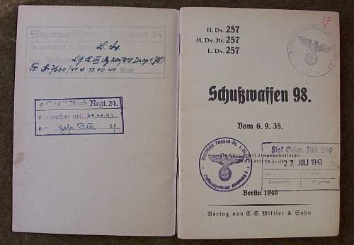 'Luftwaffe' Issued 98k Manual