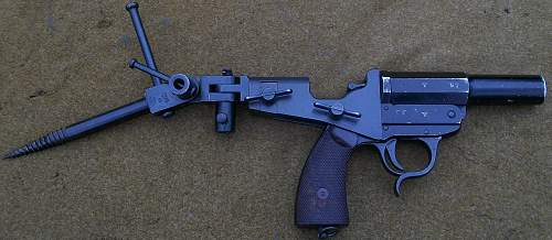 German  Army Signal Pistol with Tree Spike