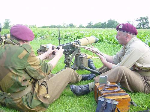 Any one want to post pictures of their Vickers machine guns ? Just interested too see how many are out there?
