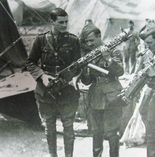 A couple of machine guns