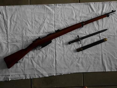 M1891/41 Carcano Long Rifle & Bayonet