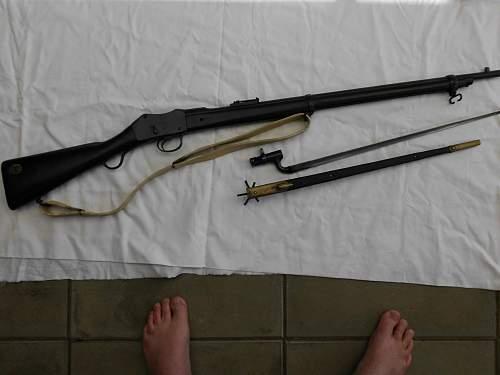 Martini Enfield rifle and P95 bayonet