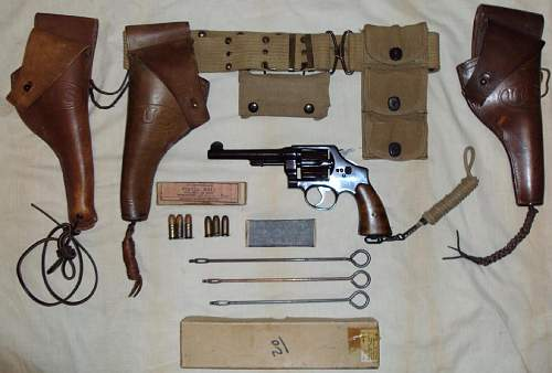 Introducing my Smith and Wesson M1917 revolver and accessories.