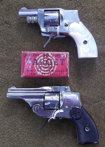 A couple of Antique KOLB .22 short Mini Revolvers