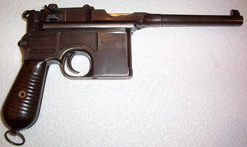 """My Mauser C/96 """"Broomhandle"""" 7.63mm Pistol. Atypically for me, not mint , but still really clean."""