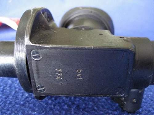 Luftwaffe barrel alignment tool for 20 mm aircraft gun.
