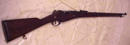 A French Lebel rifle and a Berthier Carbine recent gun show finds