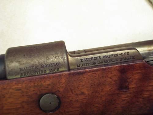 1909 Mauser Question
