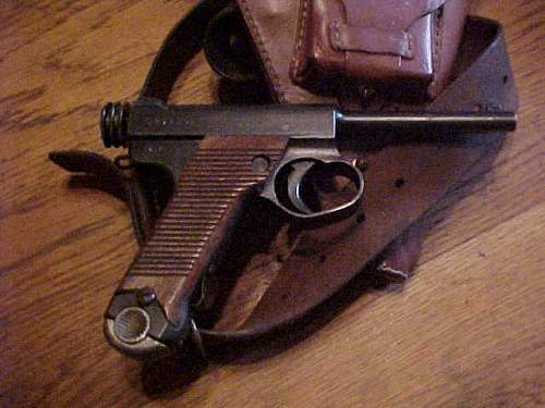 2 type 14 Nambu pistols