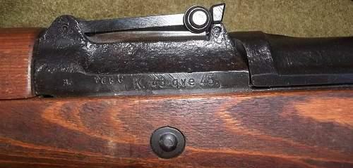 K-43 qve45  Matching Sniper Rifle & Accessories