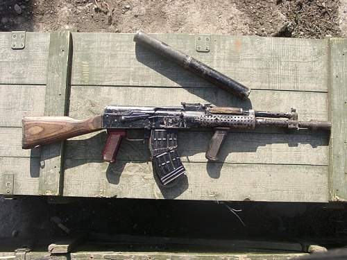 Home made weapons seized by Russian forces in Chechnya.