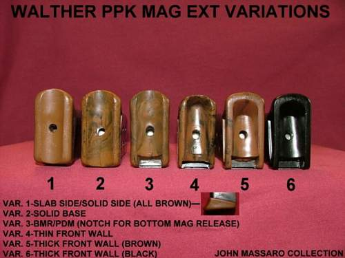 Click image for larger version.  Name:ppk mag extentions different ones.......jpg Views:516 Size:184.7 KB ID:297691