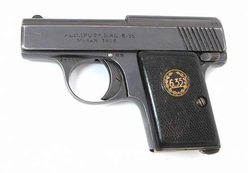 pistol my grandfather brought back from Europe