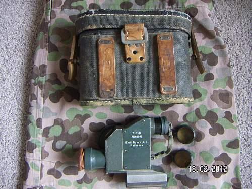 MG08 Maxim  Z.F.12 optical sight complete