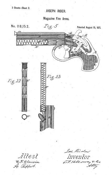 1871 Remington Rider Magazine Pistol