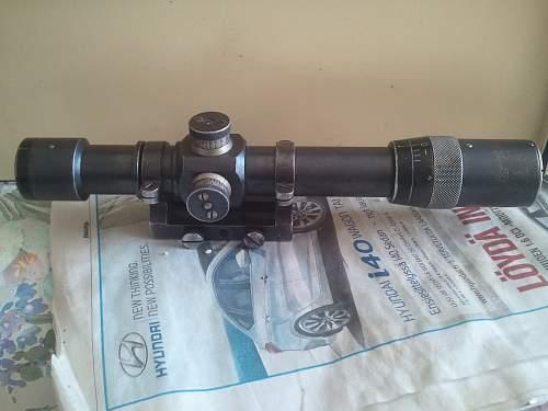 Unknown soviet rifle scope WW2?