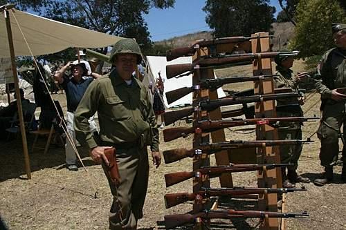 WWII  Rifle Display