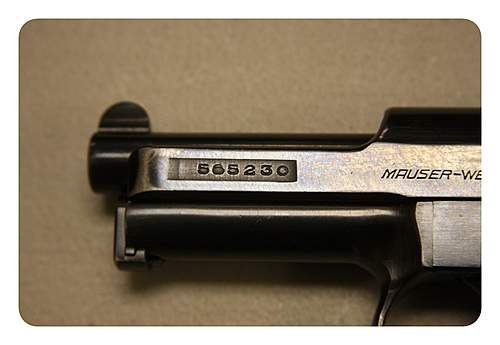 KM Marked Mauser Pistol