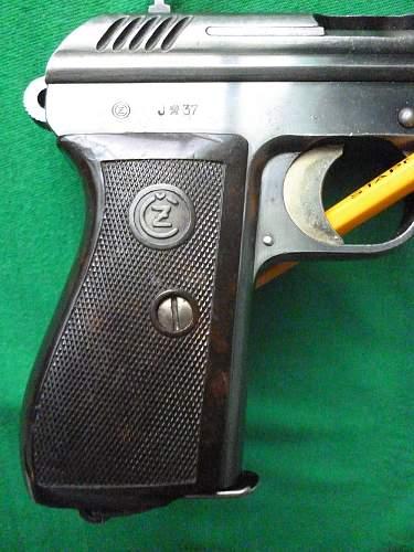 Czechoslovakian issued vz.24 pistol and holster