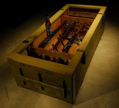 Mosin Nagant crate coffee table!