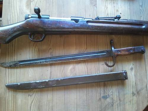 Arisaka Type 38 and bayonet.