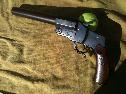 Old german flare gun