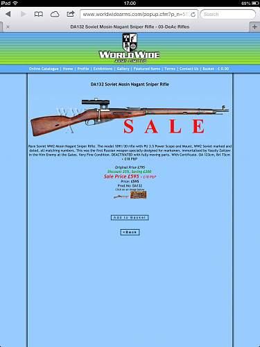 WW2 Mosin Nagant 91/30 Sniper Rifle