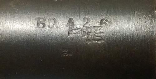 K98 barrel Markings help