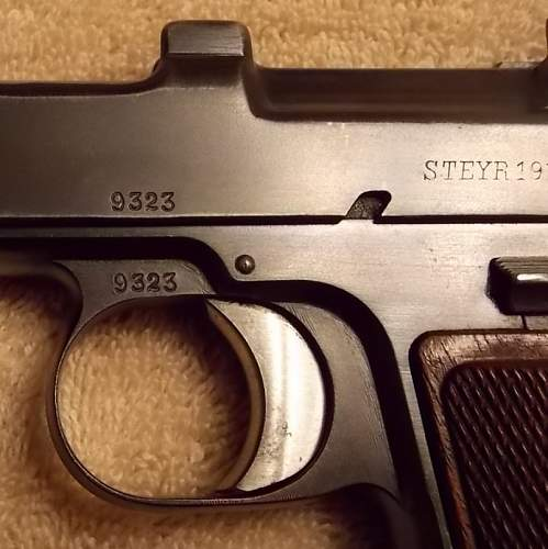 Unit marked Bavarian contract Steyr Hahn pistol