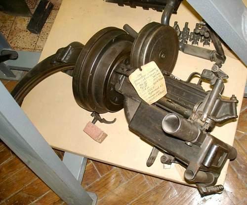Rare soviet tank submachinegun