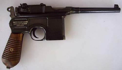 "1930 'Late"" Mauser 'Broomhandle' Nazi Contract"