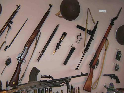 How do you hang your rifles?