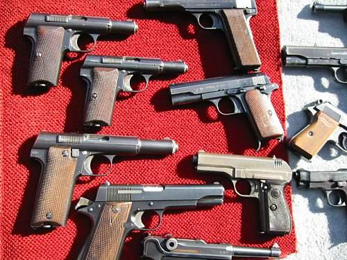 Soviet 1941 Nagant & Tokarev pistols