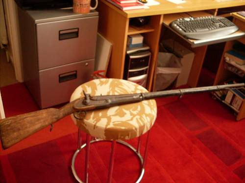 Old percussion musket