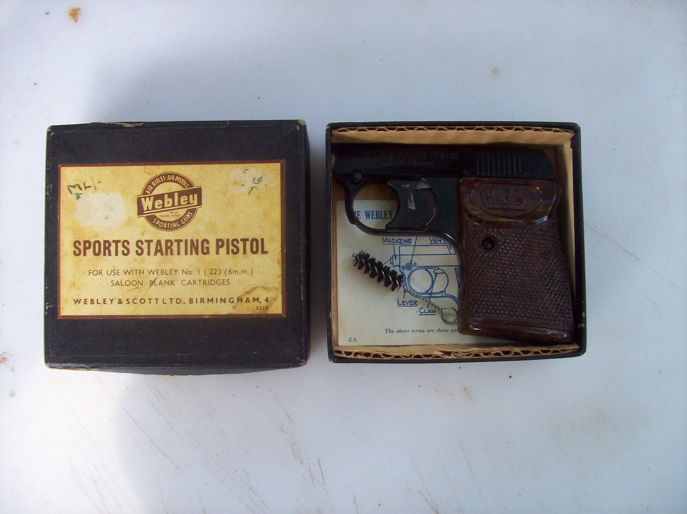 Webley  22 Blank Pistol