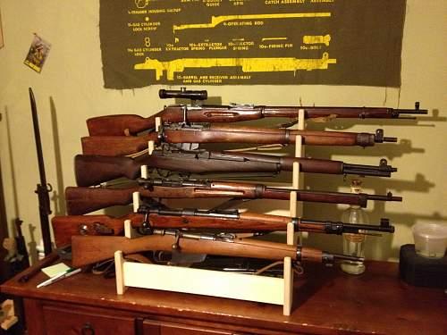 My New WWII Main Battle Rifle Display