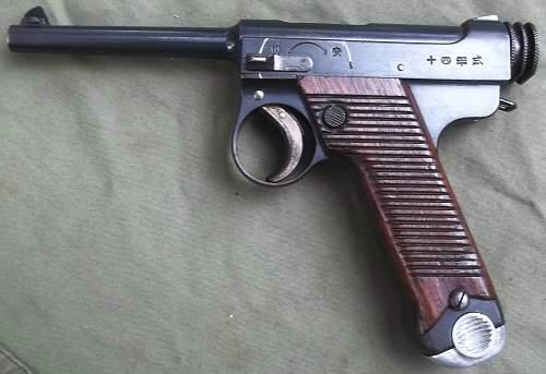 Japanese Nambu Type 14 Pistol  Dated 11.3
