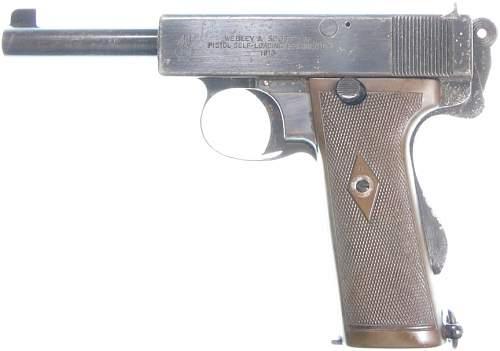 Webley Scott .455 1913 MKI N Navy Automatic Pistol