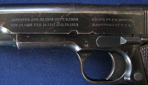 1917 British Contract .455 Colt Government Model Pistol