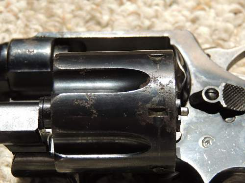 Canadian WWI .455 Eley Smith & Wesson H-E Pistol