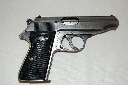 WWII Walther PP, decent find.