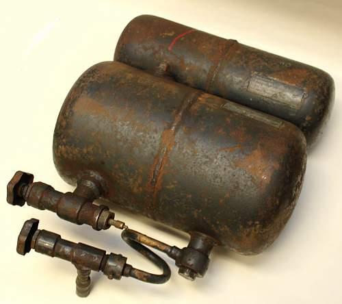 German flamethrower parts ...