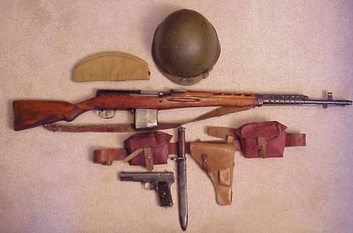 WWII SVT with original WWII equipment